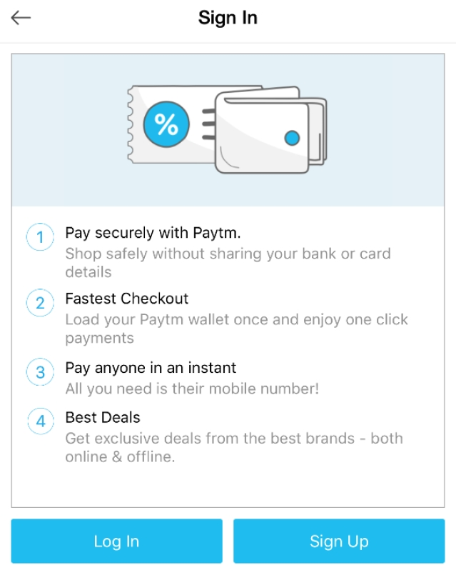 Paytm is India's largest digital wallet service with over 150 million users.