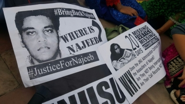JNU student Najeeb Ahmed went missing on 16 October 2016.
