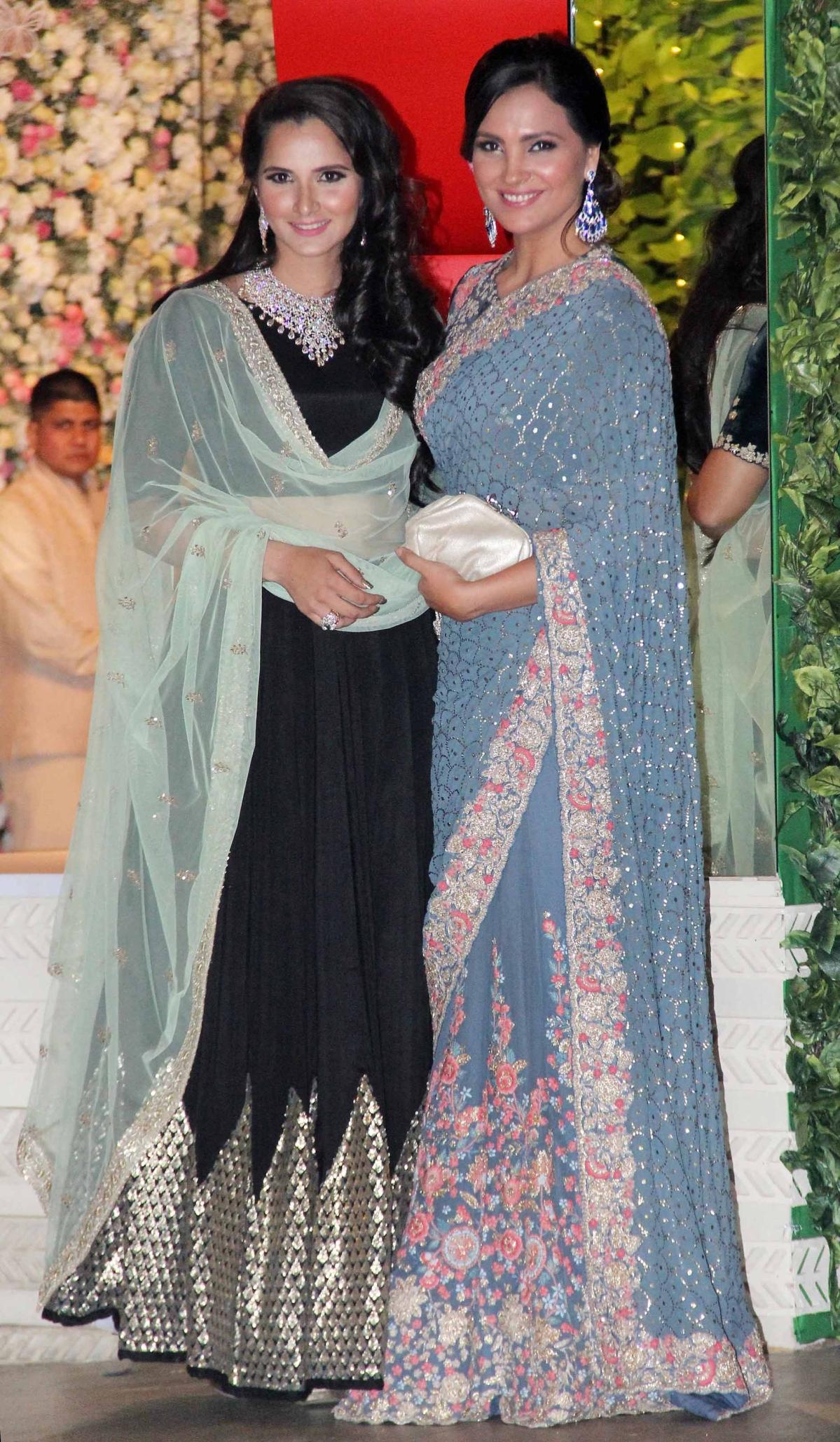 Sania Mirza And Lara Dutta At The Wedding Celebrations Photo Yogen Shah
