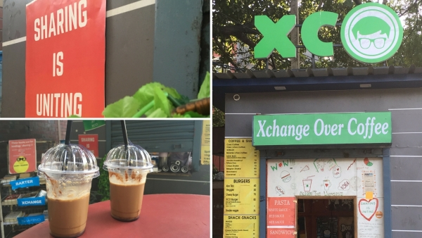 The Xco cafe lets you share books in exchange of a meal. (Photo: <b>The Quint</b>)