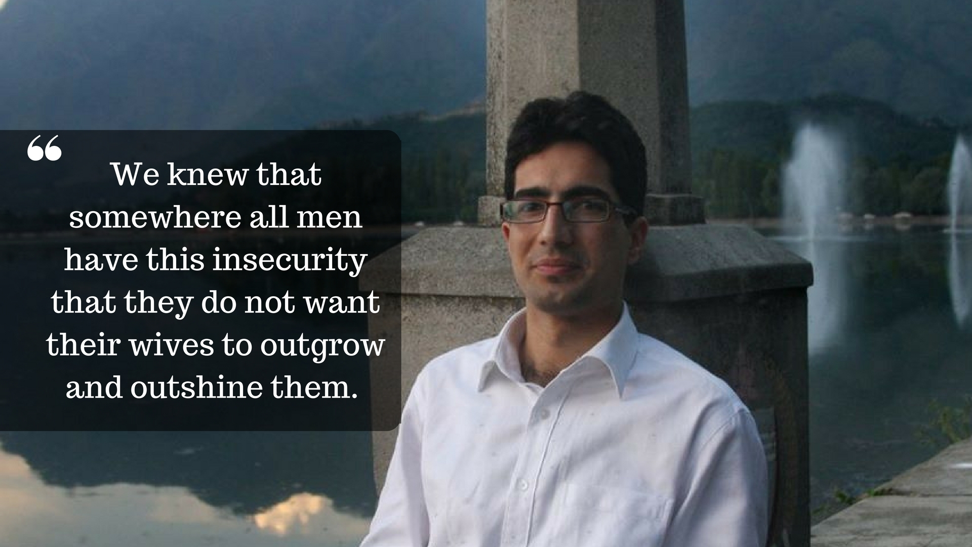Shah Faesal an IAS officer from Kashmir