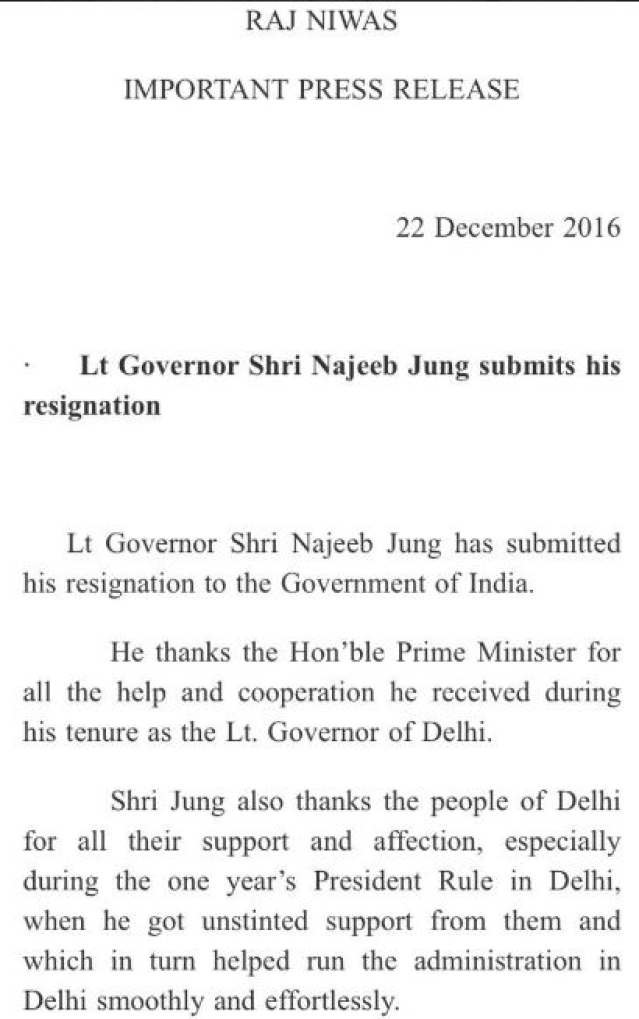 Press release announcing Jung's move to step down.