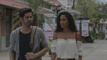 Manish Anand and Lisa Haydon in a still from <i>The Trip</i>. (Photo courtesy: Bindass)