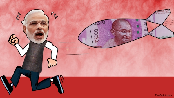 Chaos following Modi's note ban move has tarnished his image as an effective administrator. (Photo: Rhythum Seth/ <b>The Quint</b>)