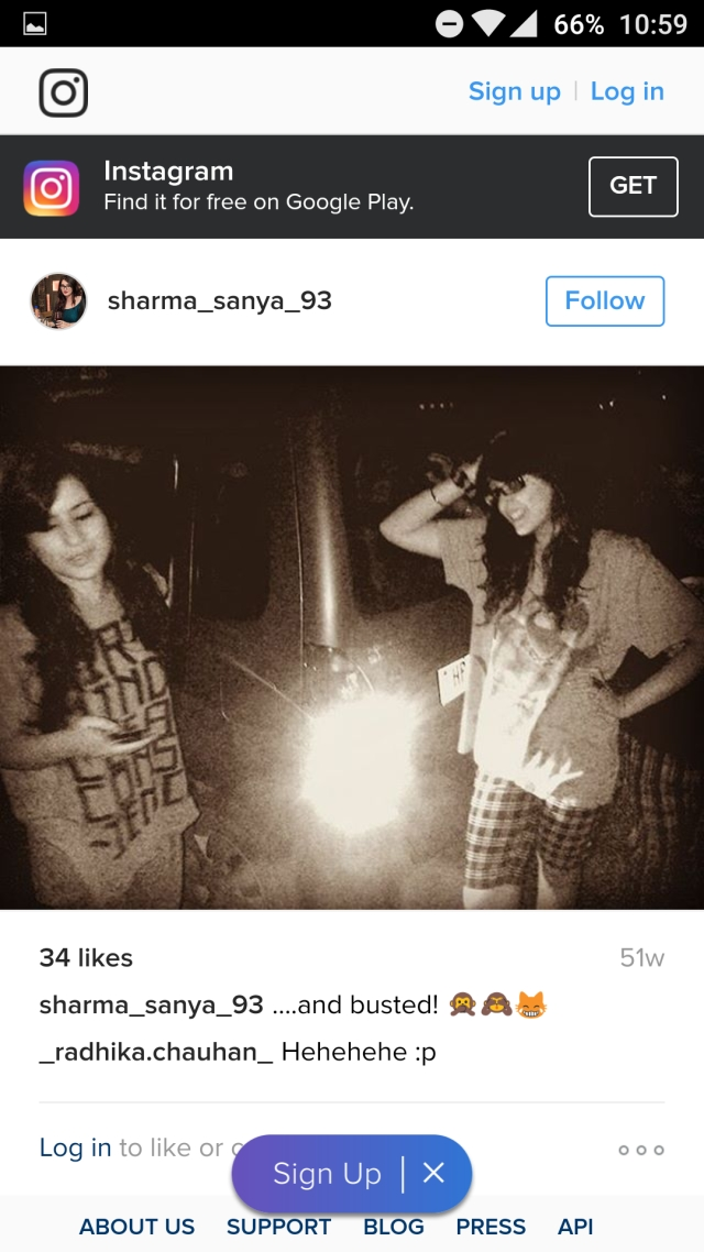 Fake Sanya Sharma's profile
