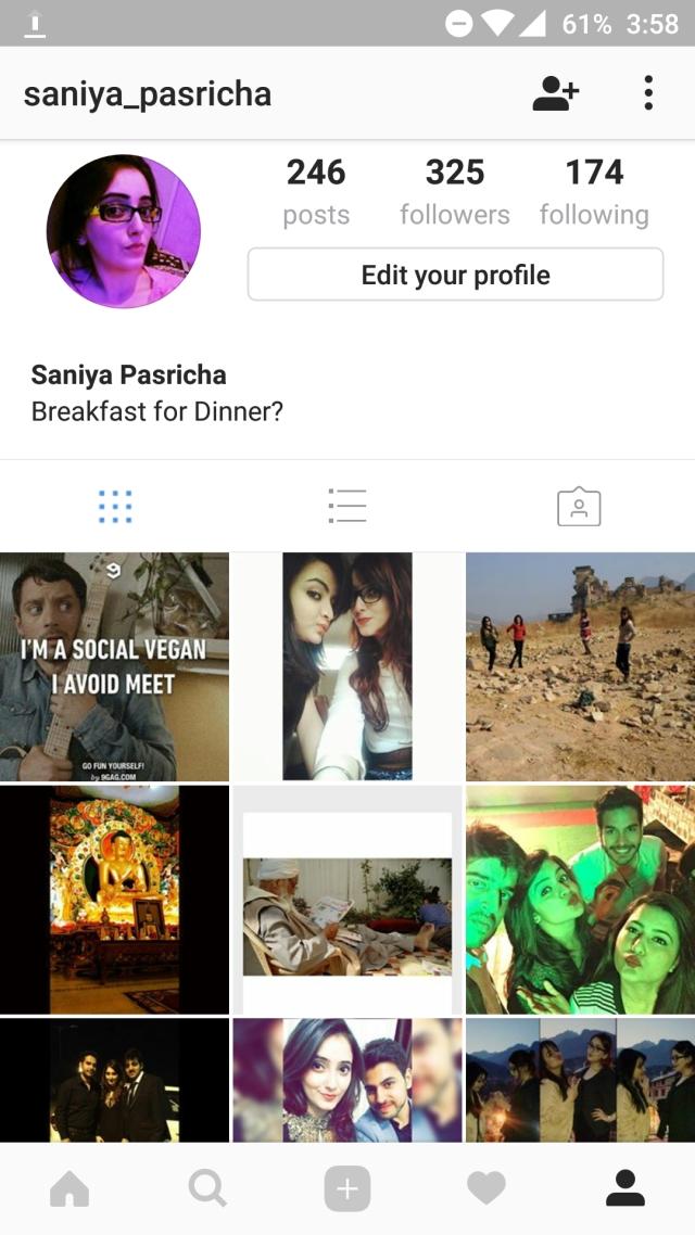 Saniya Pasricha's Instagram Profile