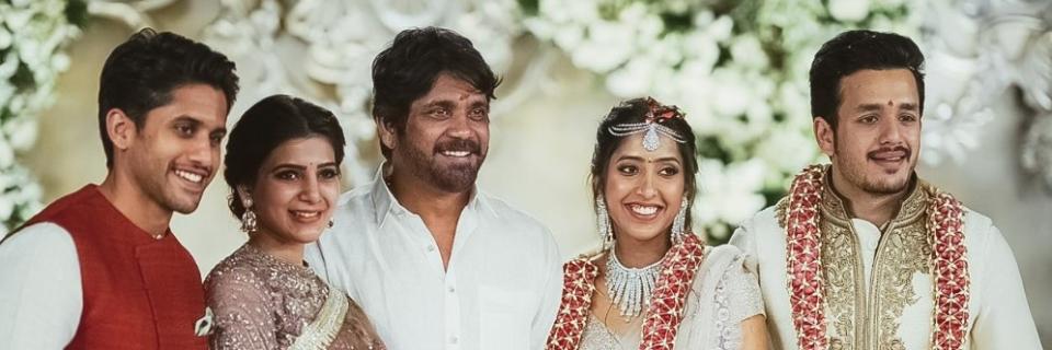 Naga Chaitanya Samantha Prabhu Nagarjuna With Akhil Akkineni And Shriya Bhupal At Their Engagement