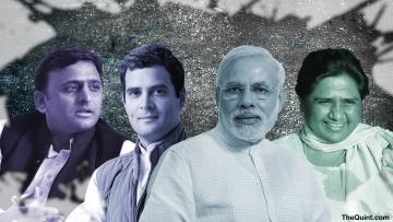 The Bharatiya Janata Party will bag a majority in Uttar Pradesh only if the Samajwadi Party splits. (Photo: Rythum Seth/<b>The Quint</b>)
