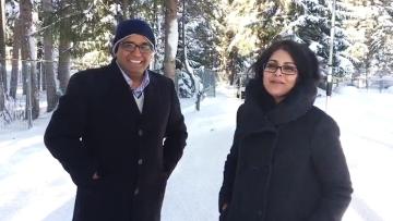 Vijay Shekhar Sharma and Menaka Doshi. (Photo: BloombergQuint)