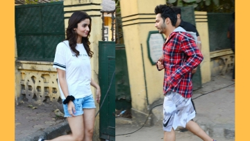Alia Bhatt and Varun Dhawan going on set. (Photo: Yogen Shah)