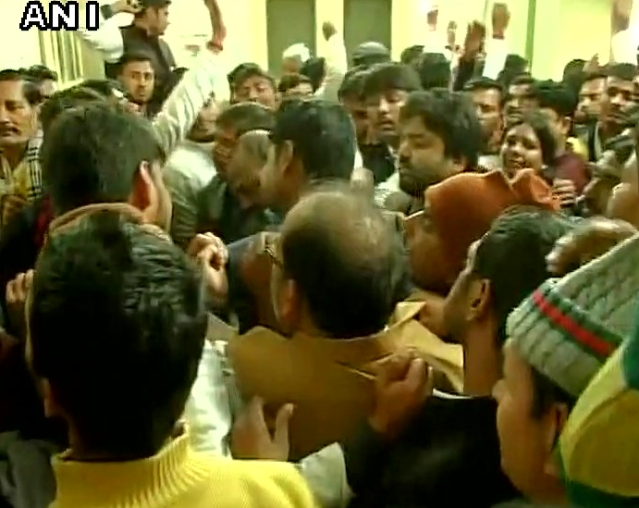 There is ruckus outside the Samajwadi Party office right now. (Photo: ANI)