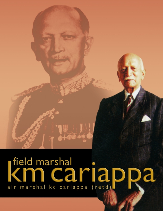 Cover of the book written by KM Cariappa's son Air Marshal KC Kariappa.