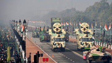 File photo of Defence personnel participating in a full-dress rehearsal for Republic Day.