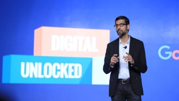 Sundar Pichai at the Google Digital Unlocked event in Delhi. (Photo Courtesy: Google India)