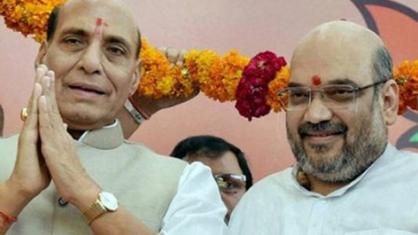 Home Minister Rajnath Singh and BJP President Amit Shah file photo.