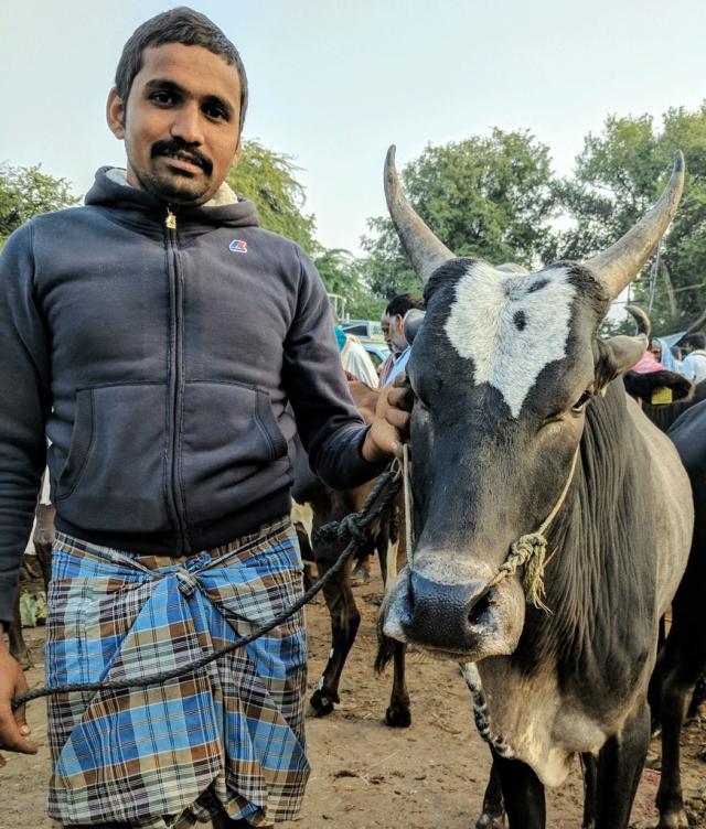 Raja with Rajan. Who's who? I'll leave that to you. (Photo: Vikram Venkateswaran)