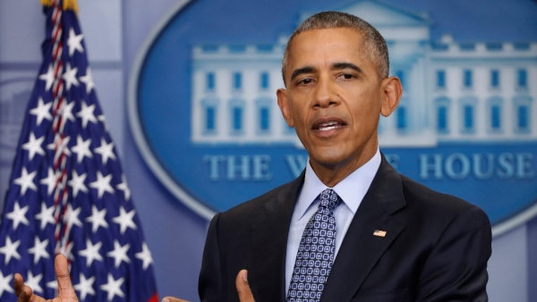 US President Obama addressing his last press conference. (Photo: AP)