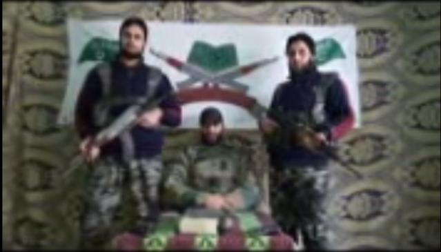 A screengrab from the Hizbul Mujahideen video.