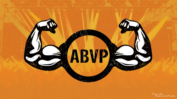 The ABVP is the best event management company you can get. This fun video that tell's you why. (Photo: Rhythum Seth/<b>The Quint</b>)
