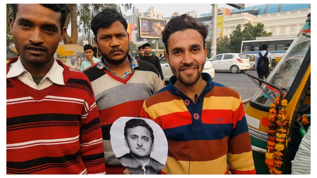 """Akhilesh has done a lot in the last 5 years,"" says Mohammed Shabaz Khan, a <i>tempowala</i>. (Photo: <b>The Quint</b>/Vatsala Singh)"