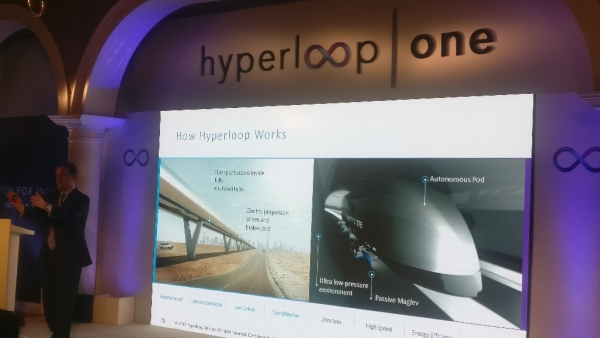 The HyperLoop One event in Delhi on Tuesday showed us their concept and the technology involved. (Photo: Aadeetya Sriram/<b>The Quint</b>)