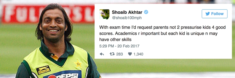 Shoaib Akhtar Has a Message for Parents, Kids Before Board Exams
