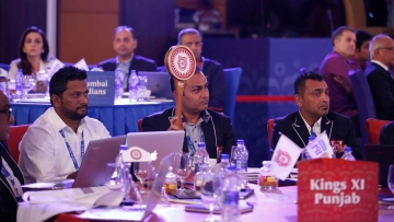 Virender Sehwag Kings XI Punjab head cricket operations during the Vivo IPL 2017 Player Auction held at the Carlton-Ritz hotel in Bangalore on the 20th February 2017. (Photo: BCCI)