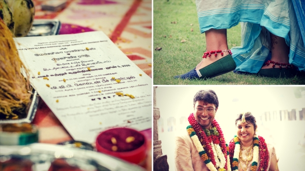 These couples stuck to their beliefs for their wedding preparations. (Photo Courtesy: Monica Pandian; Abhishek and Sowmya - Bottom R)