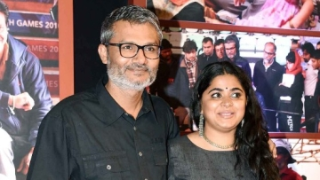 Filmmaker Nitesh Tiwari with Ashwiny Iyer Tiwari. (Photo: Yogen Shah)