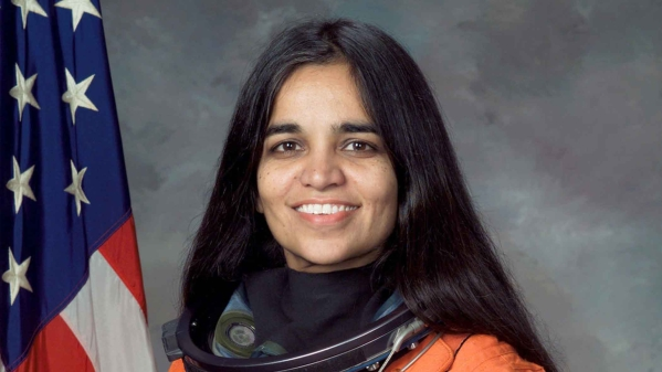 Kalpana Chawla with the crew of Columbia who died in the space shuttle tragedy on 1 February 2003.
