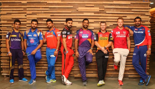 "Captains of all the 2016 IPL teams. (Photo Courtesy: Facebook/<a href=""https://www.facebook.com/pg/IPL/photos/?ref=page_internal"">Indian Premier League</a>)"