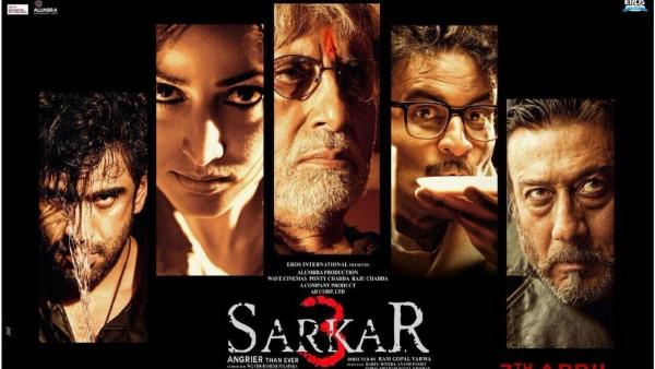 "Film poster of 'Sarkar 3'. (Photo Courtesy: Twitter/<a href=""https://twitter.com/RGVzoomin/status/836197273826557953/photo/1?ref_src=twsrc%5Etfw"">Ram Gopal Varma</a>)"