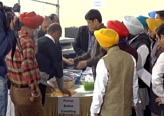 Counting of votes underway in Ludhiana. (Photo Courtesy: ANI)