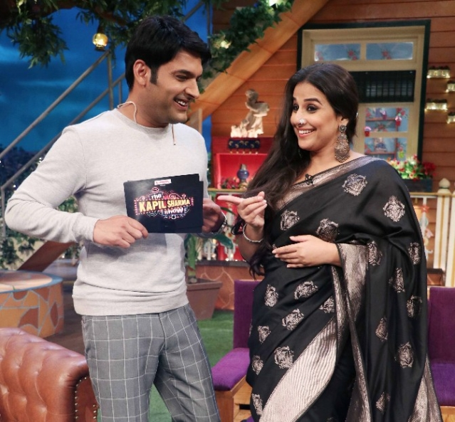 Kapil Sharma with Vidya Balan on his show. (Photo: Yogen Shah)