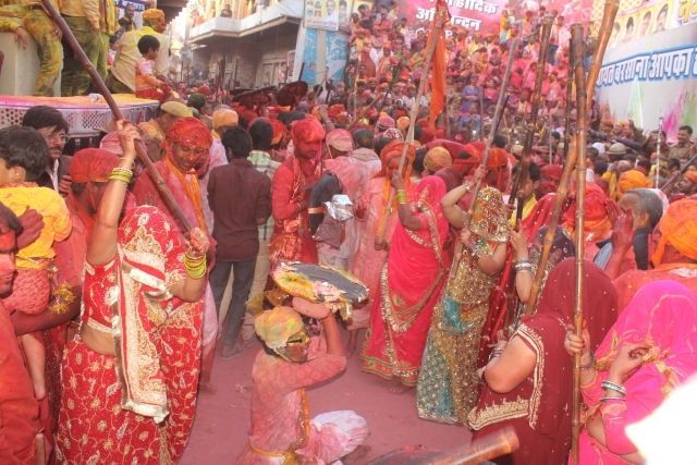 Lath maar holi in Barsana. (Photo: IANS)