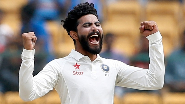 Ravindra Jadeja scored 63 runs in the first innings and picked up three wickets during Australia's second innings in the Dharamsala Test. (Photo: BCCI)