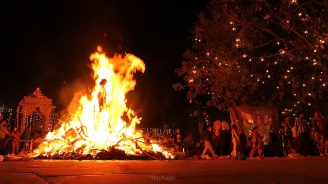 "A view of the signature Holika dehan. Representational Image. (Facebook/<a href=""https://www.facebook.com/Rishikesh/"">Rishikesh</a>)"