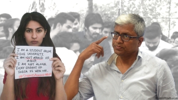 Who – or 'what' is Gurmehar Kaur? She is a symbol of dissent, writes Ashutosh. (Photo: Tejas Alhat/<b>The Quint</b>)