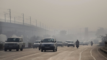 A file photo of pollution on the roads of Delhi.