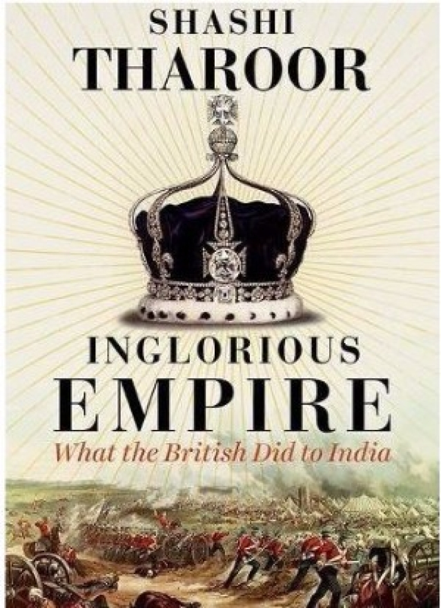 Cover Illustration of Shashi Tharoor's latest book <i>Inglorious Empire</i> (Photo Courtesy: Amazon India)
