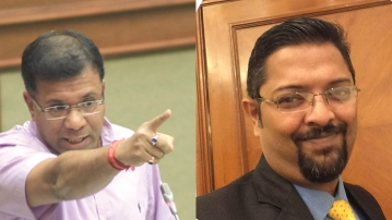 Vishwajit Rane and Savio Rodrigues (R). (Photo: Altered by <b>The Quint</b>)