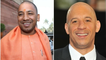 Yogi Adityanath and Vin Diesel. (Photo: Altered by <b>The Quint</b>)