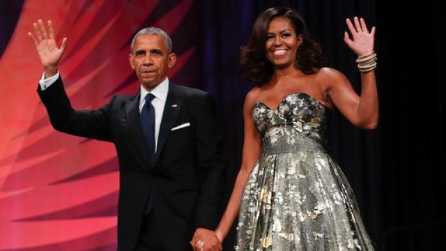 Barack and Michelle Obama.