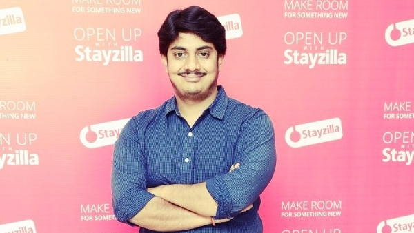 "Yogendra Vasupal, CEO of Stayzilla. (Photo Courtesy: <a href=""https://officechai.com/news/stayzilla-founder-yogendra-vasupal-arrested/#sthash.lhtO0MOe.dpbs"">OfficeChai</a>/ Altered by <b>The Quint</b>)"