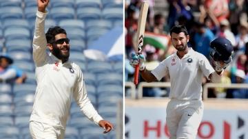 Ravindra Jadeja and Cheteshwar Pujara are both reaping the rewards of their performance in the Australia series. (Photo: BCCI/PTI)