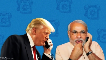 Why would national leaders call a sitting Prime Minister over a state election win? (Photo: Rhythum Seth/<b>The Quint</b>)