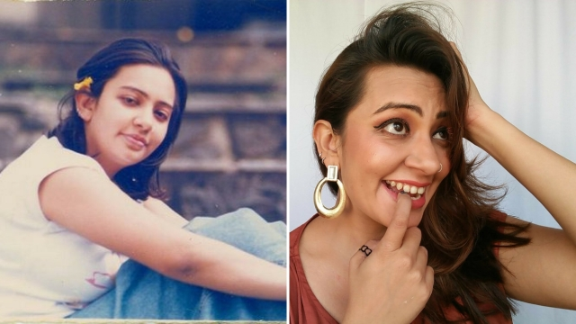Mansi at 18 (L); Mansi at her current age. (Photo Courtesy: Mansi Shah)