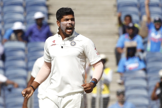 Umesh Yadav picked up 17 wickets in the Test series against Australia. (Photo: BCCI)