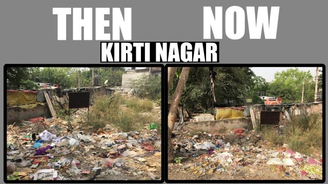 This picture of garbage dumped in the open was taken on 14/04/17 in lane number two of Kirti Nagar in east Delhi. When The Quint revisited the site on 21/04/2017, the garbage was still not cleaned.