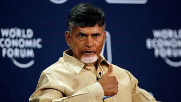 34-year-old Lokesh, the only son of Naidu, was elected to the state legislative council in March. File photo of N Chandrababu Naidu, Chief Minister, Andhra Pradesh. (Photo: Reuters)